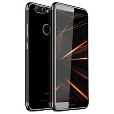 Coque Ultra Fine TPU Souple Housse Etui Transparente H01 pour Huawei Nova 2 Plus Noir