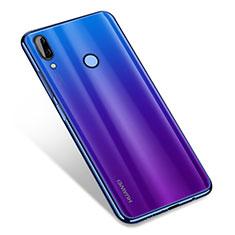 Coque Ultra Fine TPU Souple Housse Etui Transparente H01 pour Huawei Nova 3 Bleu