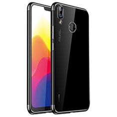 Coque Ultra Fine TPU Souple Housse Etui Transparente H01 pour Huawei Nova 3e Noir