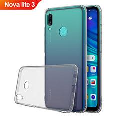 Coque Ultra Fine TPU Souple Housse Etui Transparente H01 pour Huawei Nova Lite 3 Gris