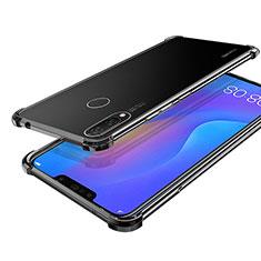 Coque Ultra Fine TPU Souple Housse Etui Transparente H01 pour Huawei P Smart+ Plus Noir