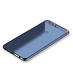 Coque Ultra Fine TPU Souple Housse Etui Transparente H01 pour Huawei P10 Bleu