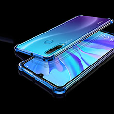 Coque Ultra Fine TPU Souple Housse Etui Transparente H01 pour Huawei P30 Lite New Edition Bleu