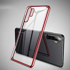 Coque Ultra Fine TPU Souple Housse Etui Transparente H01 pour Huawei P30 Pro Rouge