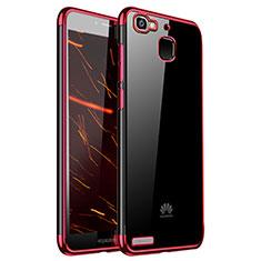 Coque Ultra Fine TPU Souple Housse Etui Transparente H01 pour Huawei P8 Lite Smart Rouge