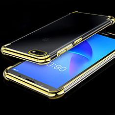 Coque Ultra Fine TPU Souple Housse Etui Transparente H01 pour Huawei Y5 Prime (2018) Or