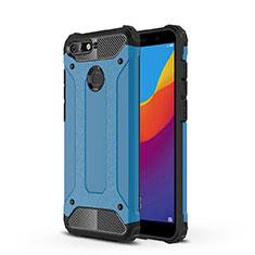 Coque Ultra Fine TPU Souple Housse Etui Transparente H01 pour Huawei Y6 (2018) Bleu