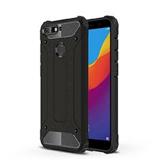 Coque Ultra Fine TPU Souple Housse Etui Transparente H01 pour Huawei Y6 (2018) Noir