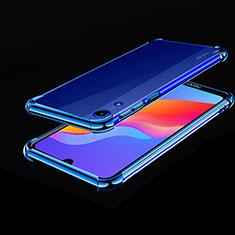 Coque Ultra Fine TPU Souple Housse Etui Transparente H01 pour Huawei Y6 (2019) Bleu