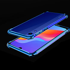 Coque Ultra Fine TPU Souple Housse Etui Transparente H01 pour Huawei Y6 Prime (2019) Bleu