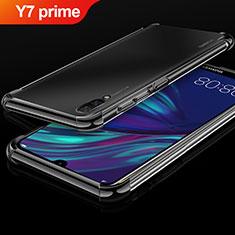 Coque Ultra Fine TPU Souple Housse Etui Transparente H01 pour Huawei Y7 Prime (2019) Noir
