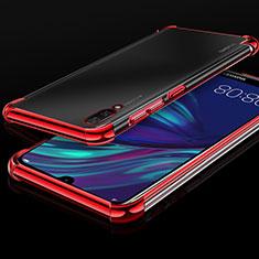 Coque Ultra Fine TPU Souple Housse Etui Transparente H01 pour Huawei Y7 Prime (2019) Rouge