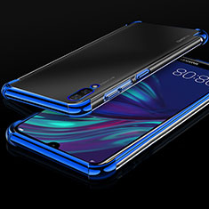 Coque Ultra Fine TPU Souple Housse Etui Transparente H01 pour Huawei Y7 Pro (2019) Bleu
