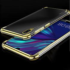 Coque Ultra Fine TPU Souple Housse Etui Transparente H01 pour Huawei Y7 Pro (2019) Or