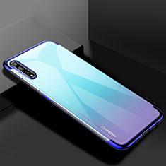Coque Ultra Fine TPU Souple Housse Etui Transparente H01 pour Huawei Y8p Bleu