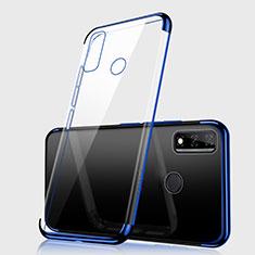 Coque Ultra Fine TPU Souple Housse Etui Transparente H01 pour Huawei Y8s Bleu