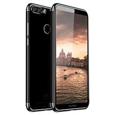 Coque Ultra Fine TPU Souple Housse Etui Transparente H01 pour Huawei Y9 (2018) Noir