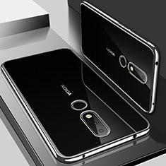 Coque Ultra Fine TPU Souple Housse Etui Transparente H01 pour Nokia 6.1 Plus Argent