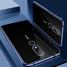 Coque Ultra Fine TPU Souple Housse Etui Transparente H01 pour Nokia 6.1 Plus Bleu