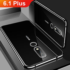 Coque Ultra Fine TPU Souple Housse Etui Transparente H01 pour Nokia 6.1 Plus Noir