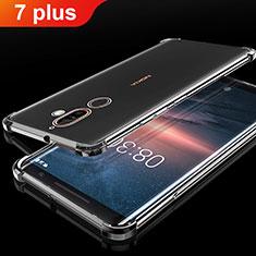 Coque Ultra Fine TPU Souple Housse Etui Transparente H01 pour Nokia 7 Plus Noir