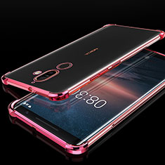 Coque Ultra Fine TPU Souple Housse Etui Transparente H01 pour Nokia 7 Plus Or Rose