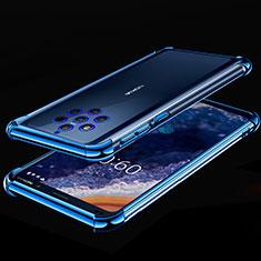 Coque Ultra Fine TPU Souple Housse Etui Transparente H01 pour Nokia 9 PureView Bleu
