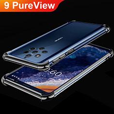 Coque Ultra Fine TPU Souple Housse Etui Transparente H01 pour Nokia 9 PureView Noir
