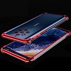 Coque Ultra Fine TPU Souple Housse Etui Transparente H01 pour Nokia 9 PureView Rouge