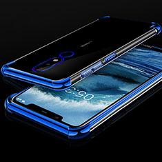 Coque Ultra Fine TPU Souple Housse Etui Transparente H01 pour Nokia X5 Bleu