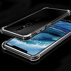 Coque Ultra Fine TPU Souple Housse Etui Transparente H01 pour Nokia X5 Clair