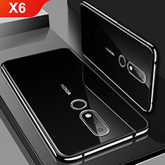 Coque Ultra Fine TPU Souple Housse Etui Transparente H01 pour Nokia X6 Noir