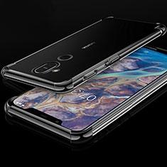 Coque Ultra Fine TPU Souple Housse Etui Transparente H01 pour Nokia X7 Noir