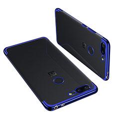 Coque Ultra Fine TPU Souple Housse Etui Transparente H01 pour OnePlus 5T A5010 Bleu