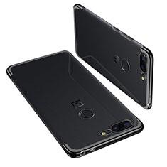Coque Ultra Fine TPU Souple Housse Etui Transparente H01 pour OnePlus 5T A5010 Noir