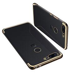 Coque Ultra Fine TPU Souple Housse Etui Transparente H01 pour OnePlus 5T A5010 Or