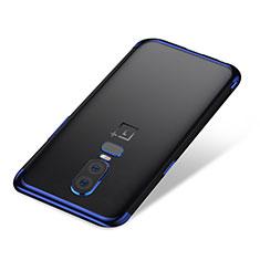 Coque Ultra Fine TPU Souple Housse Etui Transparente H01 pour OnePlus 6 Bleu
