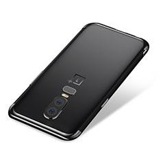 Coque Ultra Fine TPU Souple Housse Etui Transparente H01 pour OnePlus 6 Noir