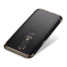 Coque Ultra Fine TPU Souple Housse Etui Transparente H01 pour OnePlus 6 Or