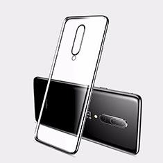 Coque Ultra Fine TPU Souple Housse Etui Transparente H01 pour OnePlus 7 Noir