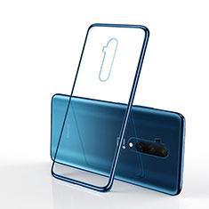 Coque Ultra Fine TPU Souple Housse Etui Transparente H01 pour OnePlus 7T Pro 5G Bleu