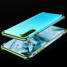 Coque Ultra Fine TPU Souple Housse Etui Transparente H01 pour OnePlus Nord Vert