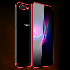 Coque Ultra Fine TPU Souple Housse Etui Transparente H01 pour Oppo A12e Rouge