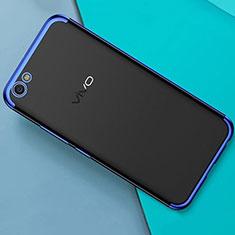 Coque Ultra Fine TPU Souple Housse Etui Transparente H01 pour Oppo A71 Bleu