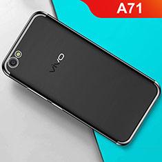 Coque Ultra Fine TPU Souple Housse Etui Transparente H01 pour Oppo A71 Noir