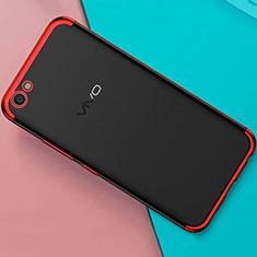 Coque Ultra Fine TPU Souple Housse Etui Transparente H01 pour Oppo A71 Rouge