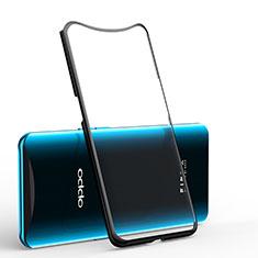 Coque Ultra Fine TPU Souple Housse Etui Transparente H01 pour Oppo Find X Noir