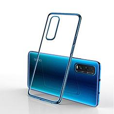 Coque Ultra Fine TPU Souple Housse Etui Transparente H01 pour Oppo Find X2 Bleu