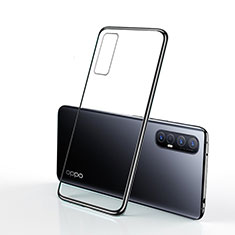 Coque Ultra Fine TPU Souple Housse Etui Transparente H01 pour Oppo Find X2 Neo Noir