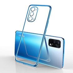 Coque Ultra Fine TPU Souple Housse Etui Transparente H01 pour Oppo K7x 5G Bleu